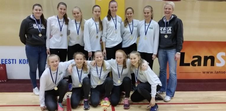 B-tytöt 01: Vōit U15 EGBL-korvpalliturniilil Tallinnas