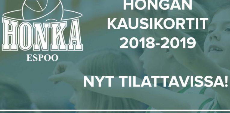 Tapiolan Hongan kausikorttikampanja 2018-19 käynnissä