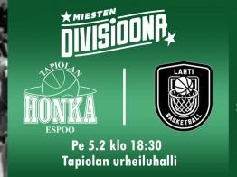 Korisperjantai: Tapiolan Honka ja Lahti Basketball iskevät yhteen divarin huippuottelussa