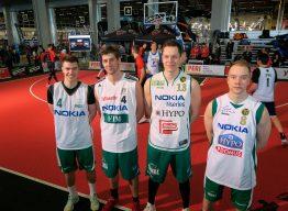 Honka-joukkue kansainvälisessä FIBA 3×3 satelliittiturnauksessa