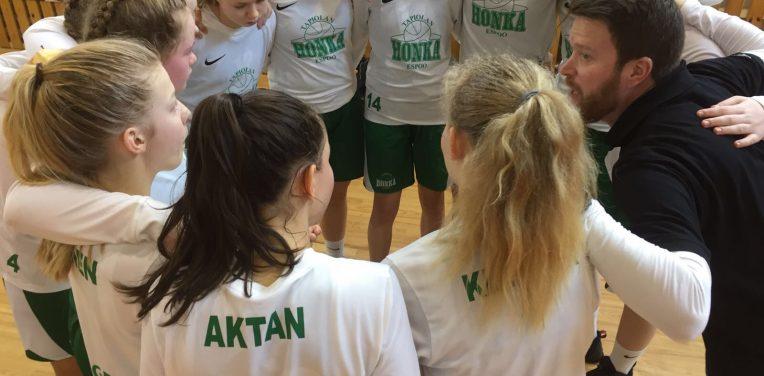 Tapiolan Hongan C-tytöt 15-0 rekordilla EGBL Superfinaaliin Pietariin (30.3-2.4)