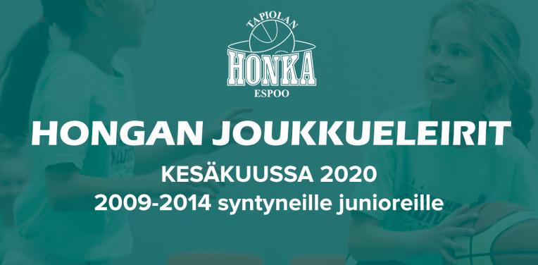 Tapiolan Honka järjestää kolmen päivän joukkueleirejä 2009-2014 syntyneille