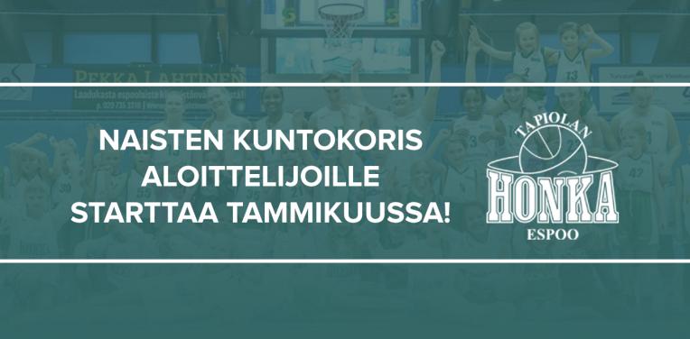 Tapiolan Honka käynnistää naisten kuntokorisryhmän tammikuussa