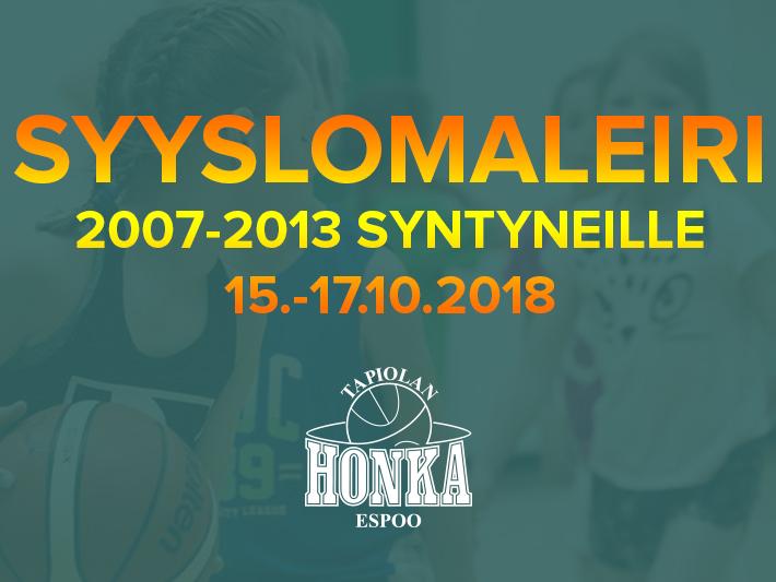 Tapiolan Hongan syyslomaleiri 15.-17.10.